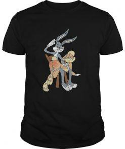 Guys Bugs bunny spanking Lola bunny shirt
