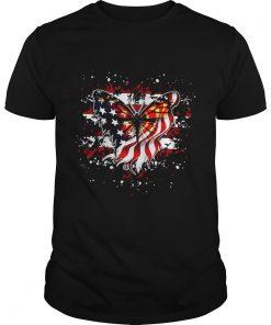 Guys Butterfly American flag shirt