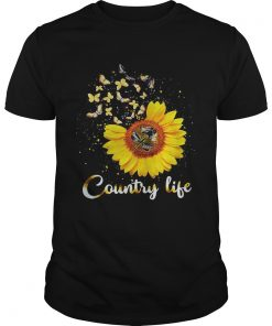 Guys Butterfly Sunflower Country life shirt