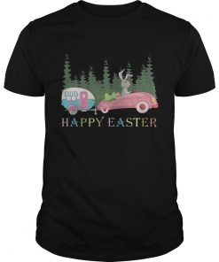 Guys Camping Happy Easter Day Bunny Eggs Shirt
