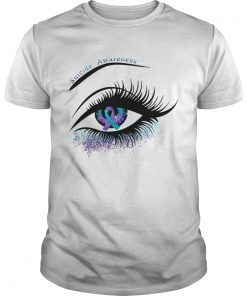 Guys Cancer suicide awareness in the eye shirt
