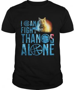 Guys Cat Goose I can fight Thanos alone shirt