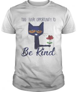 Guys Cat Take every opportunity be kind shirt