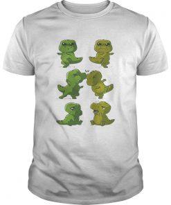 Guys Dinosaurs Trex fusion dance shirt
