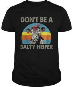 Guys Dont be a salty heifer retro shirt