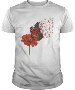 Guys Dragonfly Gerbera Daisy shirt
