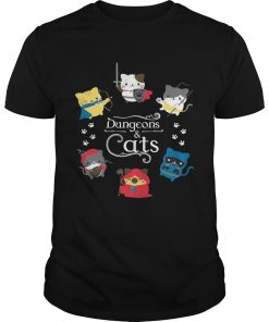 Guys Dungeons and cats shirt