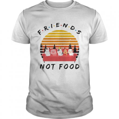 Guys Friends not food vintage sunset shirt