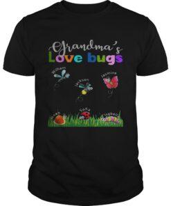Guys Grandmas love bugs William Jackson Jasmine Noah Sofia Isabella shirt