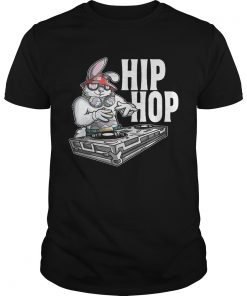Guys HIP HOP Bunny Easter Rabbit DJ Turntable Shirt