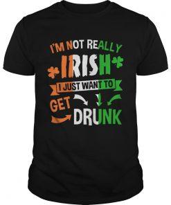 Guys Im not really Irish I just want to drunk shirt