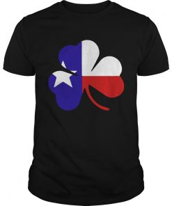 Guys Irish Texas Flag Shamrock St Patricks TShirt