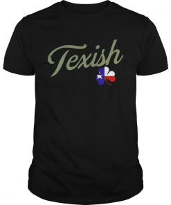 Guys Irish Texish Shamrock St Patricks TShirt