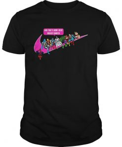 Guys Jesus and Superhero and thats how I beat breast cancer shirt