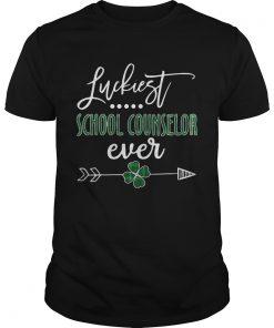 Guys Luckiest School Counselor Ever Irish shirt