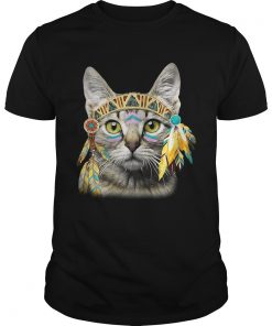 Guys Native American Cat shirt