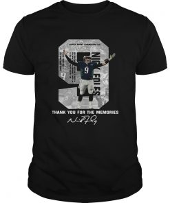 Guys Nick Foles Eagles Thank you for the memories signature shirt