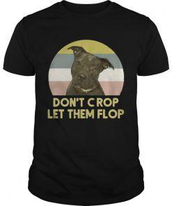 Guys Pitbull Dont crop let them flop sunset Sweatshirt
