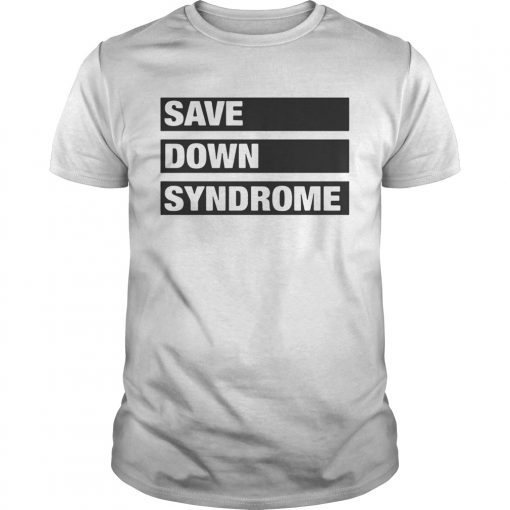 Guys Save Down Syndrome Logo Shirt