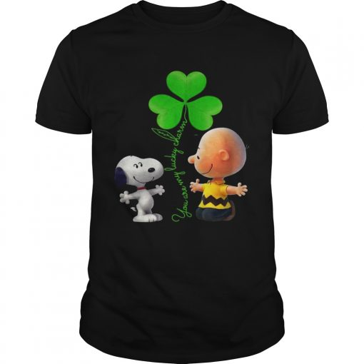 Guys Snoopy and Charlie Brown Snoopy You are my lucky charm shirt