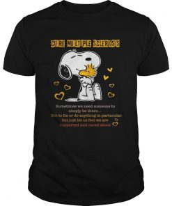Guys Snoopy and woodstock cure multiple sclerosis shirt