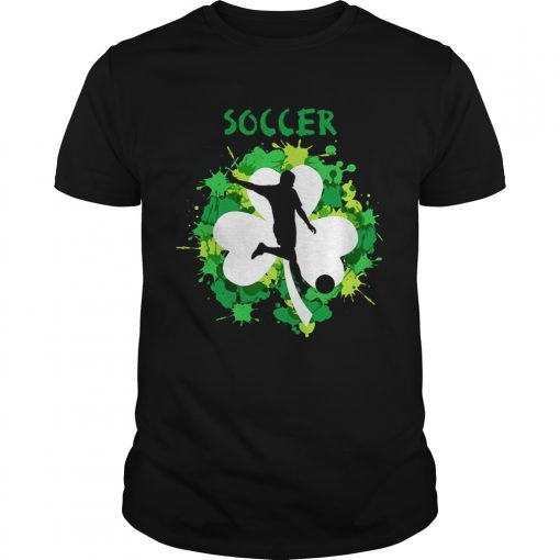 Guys Soccer Shamrock Irish St Pattys Day Sport Shirt