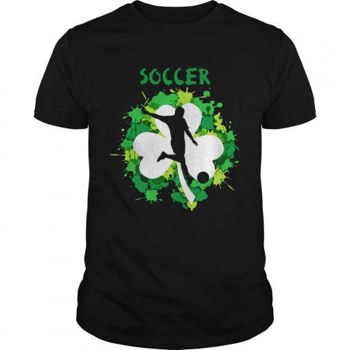 Guys Soccer Shamrock Irish St Pattys Day Sport Shirt