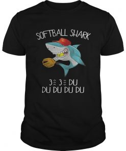 Guys Softball shark du du du du du shirt