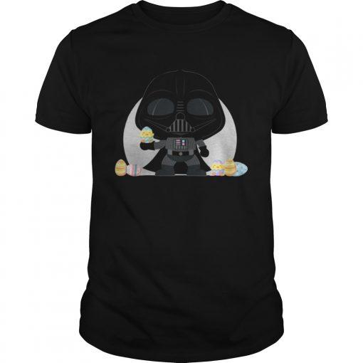 Guys Star Wars Darth Vader Kawaii Easter Funny Cartoon Shirt