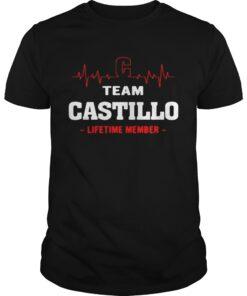 Guys Team Castillo lifetime member shirt