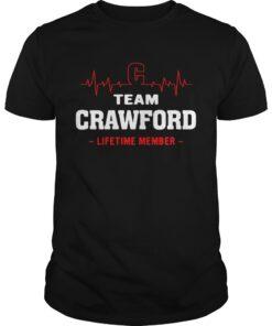 Guys Team Crawford lifetime member shirt
