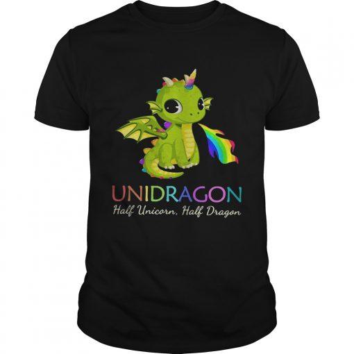 Guys Unidragon half unicorn half unicorn LGBT shirt