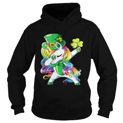 Hoodie Dabbing unicorn Irish St Patricks shirt