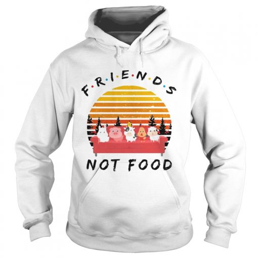 Hoodie Friends not food vintage sunset shirt