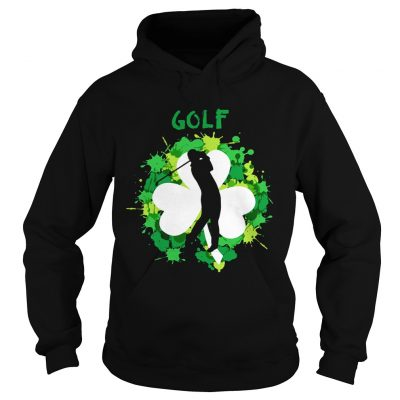 Hoodie Golf Shamrock Irish St Pattys Day Sport Shirt