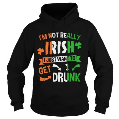 Hoodie Im not really Irish I just want to drunk shirt