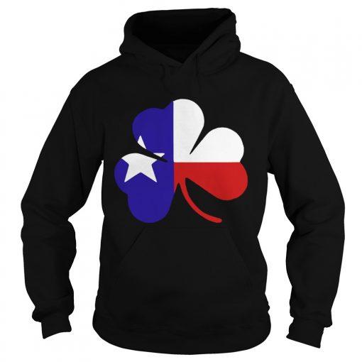 Hoodie Irish Texas Flag Shamrock St Patricks TShirt