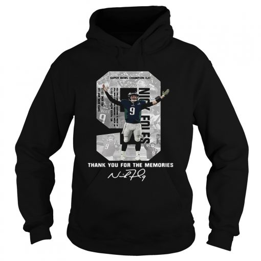 Hoodie Nick Foles Eagles Thank you for the memories signature shirt