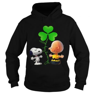 Hoodie Snoopy and Charlie Brown Snoopy You are my lucky charm shirt
