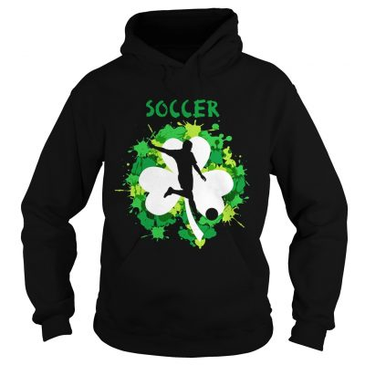 Hoodie Soccer Shamrock Irish St Pattys Day Sport Shirt