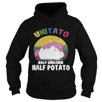 Hoodie Unitato half unicorn half potato shirt
