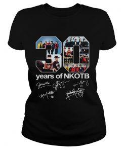 Ladies Tee 30 Years Of NKOTB Signatures Shirt