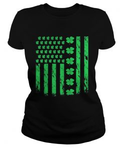 Ladies Tee American Clover Lucky Leaf Flag Is Great For Patricks Day Shirt