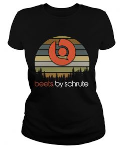 Ladies Tee Beets By Schrute sunset shirt