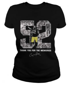 Ladies Tee Buy Clay Matthews 52 Thank You For The Memories shirt