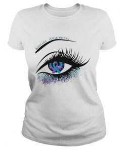 Ladies Tee Cancer suicide awareness in the eye shirt