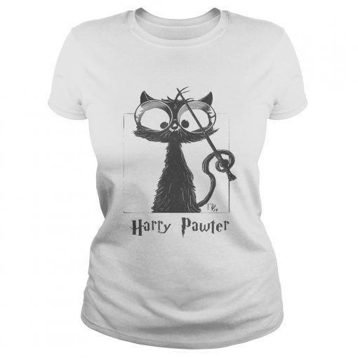 Ladies Tee Cat Harry Pawter shirt