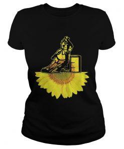 Ladies Tee Cowboy sunflower shirt