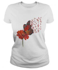 Ladies Tee Dragonfly Gerbera Daisy shirt