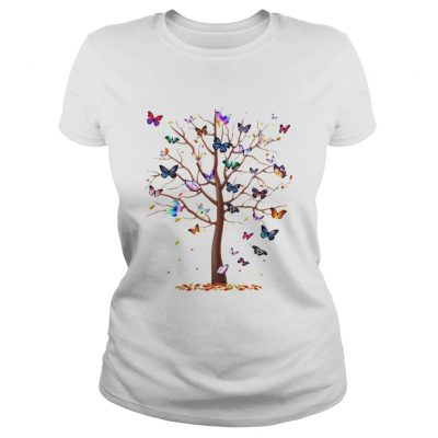 Ladies Tee Family Butterfly tree for lost people shirt